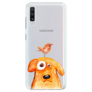 Plastové pouzdro iSaprio Pejsek a Ptáček na mobil Samsung Galaxy A70