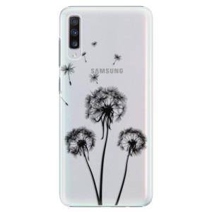 Plastové pouzdro iSaprio Tři Černé Pampelišky na mobil Samsung Galaxy A70