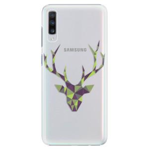 Plastové pouzdro iSaprio Zelený Jelínek na mobil Samsung Galaxy A70