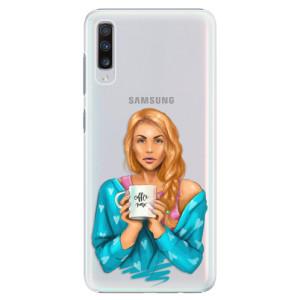 Plastové pouzdro iSaprio Coffee Now Zrzka na mobil Samsung Galaxy A70