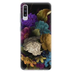 Plastové pouzdro iSaprio Temné Květy na mobil Samsung Galaxy A70
