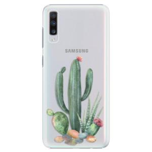 Plastové pouzdro iSaprio Kaktusy 02 na mobil Samsung Galaxy A70
