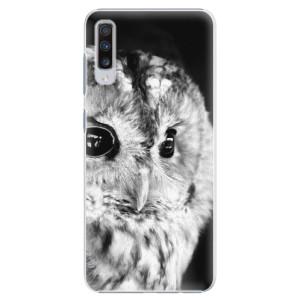 Plastové pouzdro iSaprio BW Sova na mobil Samsung Galaxy A70