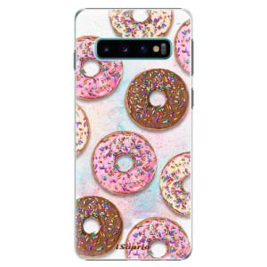 Plastové pouzdro iSaprio Donutky Všude 11 na mobil Samsung Galaxy S10