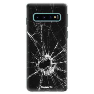 Plastové pouzdro iSaprio Broken Glass 10 na mobil Samsung Galaxy S10