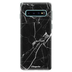 Plastové pouzdro iSaprio Black Marble 18 na mobil Samsung Galaxy S10