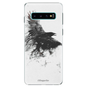 Plastové pouzdro iSaprio Havran 01 na mobil Samsung Galaxy S10