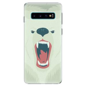 Plastové pouzdro iSaprio Naštvanej Medvěd na mobil Samsung Galaxy S10