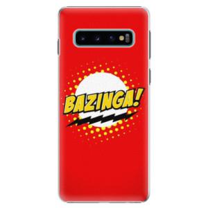 Plastové pouzdro iSaprio Bazinga 01 na mobil Samsung Galaxy S10