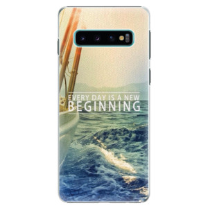 Plastové pouzdro iSaprio Beginning na mobil Samsung Galaxy S10