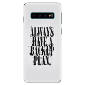 Plastové pouzdro iSaprio Backup Plan na mobil Samsung Galaxy S10