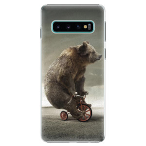 Plastové pouzdro iSaprio Medvěd 01 na mobil Samsung Galaxy S10