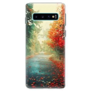 Plastové pouzdro iSaprio Podzim 03 na mobil Samsung Galaxy S10