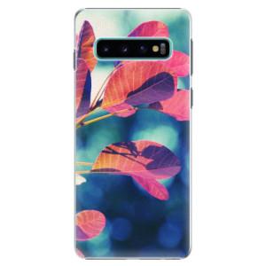 Plastové pouzdro iSaprio Podzim 01 na mobil Samsung Galaxy S10