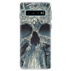 Plastové pouzdro iSaprio Abstract Skull na mobil Samsung Galaxy S10