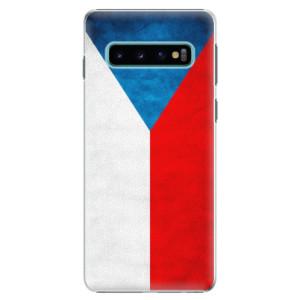 Plastové pouzdro iSaprio Česká Vlajka na mobil Samsung Galaxy S10