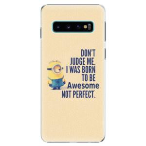 Plastové pouzdro iSaprio Be Awesome na mobil Samsung Galaxy S10