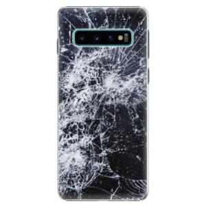 Plastové pouzdro iSaprio Praskliny na mobil Samsung Galaxy S10