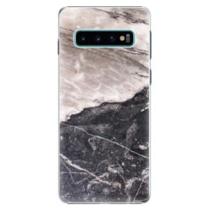 Plastové pouzdro iSaprio BW Mramor na mobil Samsung Galaxy S10