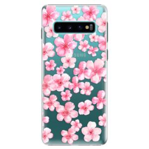 Plastové pouzdro iSaprio Malé Růžové Květy 05 na mobil Samsung Galaxy S10 - poslední kousek za tuto cenu