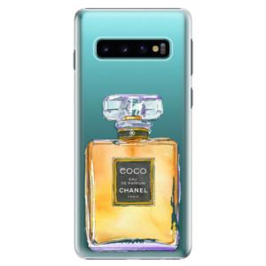 Plastové pouzdro iSaprio Chanel Gold na mobil Samsung Galaxy S10