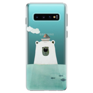 Plastové pouzdro iSaprio Medvěd s Lodí na mobil Samsung Galaxy S10
