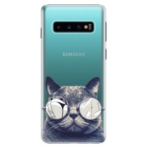 Plastové pouzdro iSaprio Šílená Číča 01 na mobil Samsung Galaxy S10