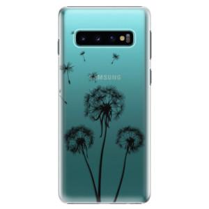 Plastové pouzdro iSaprio Tři Černé Pampelišky na mobil Samsung Galaxy S10