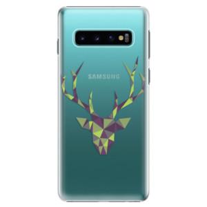 Plastové pouzdro iSaprio Zelený Jelínek na mobil Samsung Galaxy S10