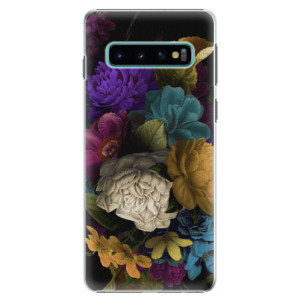 Plastové pouzdro iSaprio Temné Květy na mobil Samsung Galaxy S10