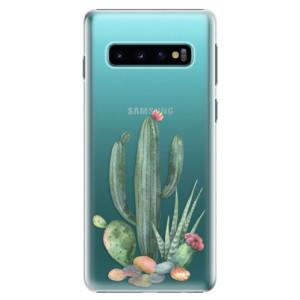 Plastové pouzdro iSaprio Kaktusy 02 na mobil Samsung Galaxy S10