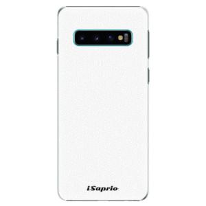 Plastové pouzdro iSaprio 4Pure bílé na mobil Samsung Galaxy S10