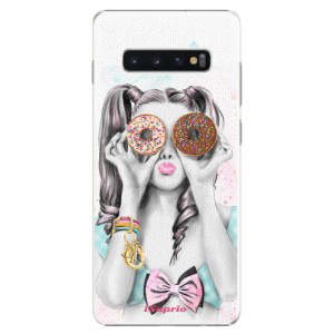 Plastové pouzdro iSaprio Donutky Očiska 10 na mobil Samsung Galaxy S10 Plus