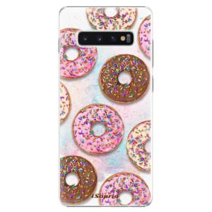 Plastové pouzdro iSaprio Donutky Všude 11 na mobil Samsung Galaxy S10 Plus