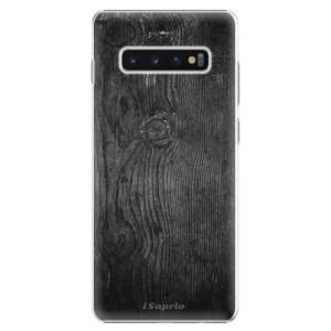 Plastové pouzdro iSaprio Black Wood 13 na mobil Samsung Galaxy S10 Plus