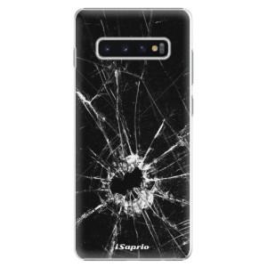 Plastové pouzdro iSaprio Broken Glass 10 na mobil Samsung Galaxy S10 Plus