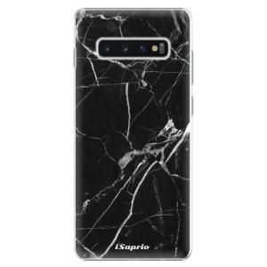 Plastové pouzdro iSaprio Black Marble 18 na mobil Samsung Galaxy S10 Plus