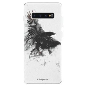 Plastové pouzdro iSaprio Havran 01 na mobil Samsung Galaxy S10 Plus