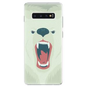 Plastové pouzdro iSaprio Naštvanej Medvěd na mobil Samsung Galaxy S10 Plus