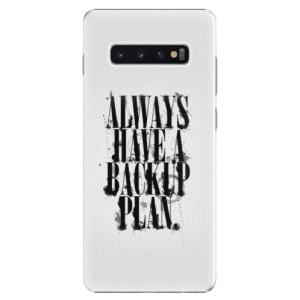 Plastové pouzdro iSaprio Backup Plan na mobil Samsung Galaxy S10 Plus