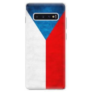 Plastové pouzdro iSaprio Česká Vlajka na mobil Samsung Galaxy S10 Plus
