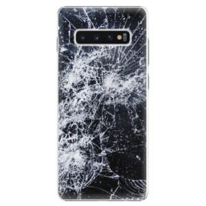 Plastové pouzdro iSaprio Praskliny na mobil Samsung Galaxy S10 Plus