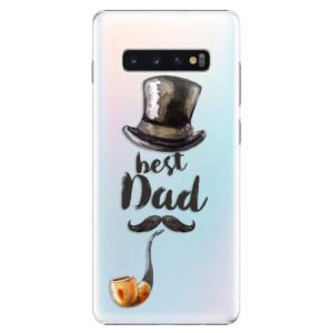 Plastové pouzdro iSaprio Best Dad na mobil Samsung Galaxy S10 Plus