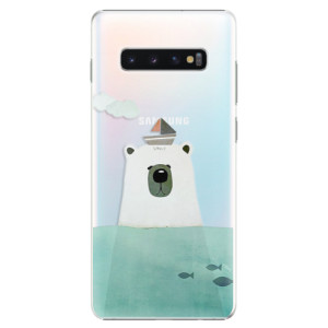 Plastové pouzdro iSaprio Medvěd s Lodí na mobil Samsung Galaxy S10 Plus