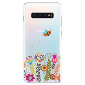 Plastové pouzdro iSaprio Včelka Pája 01 na mobil Samsung Galaxy S10 Plus