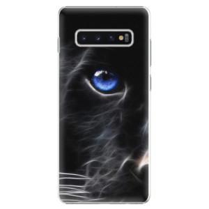 Plastové pouzdro iSaprio Black Puma na mobil Samsung Galaxy S10 Plus