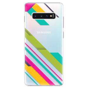 Plastové pouzdro iSaprio Barevné Pruhy 03 na mobil Samsung Galaxy S10 Plus