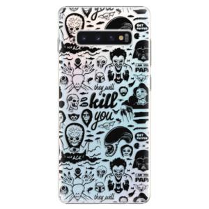 Plastové pouzdro iSaprio Komiks 01 black na mobil Samsung Galaxy S10 Plus