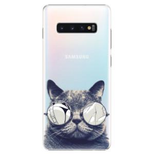 Plastové pouzdro iSaprio Šílená Číča 01 na mobil Samsung Galaxy S10 Plus