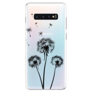 Plastové pouzdro iSaprio Tři Černé Pampelišky na mobil Samsung Galaxy S10 Plus
